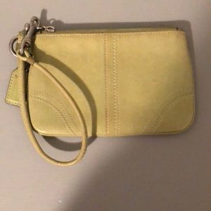 Green/Pear Colored Vintage Coach Wristlet